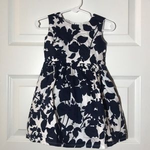 Carter's Navy and White Floral Dress